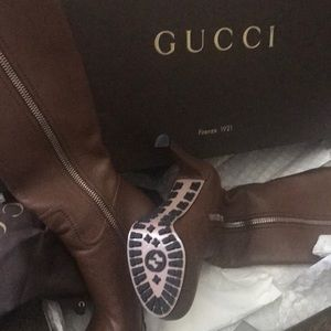 Brand New Gucci Boot Hills (nut brown color),
